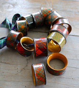 Tartanware Napkin Rings
