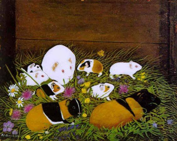 Nine Guinea Pigs and Edible Flowers