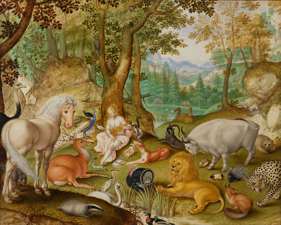 Orpheus charming the animals