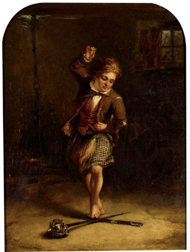 James Cassie, 1819-1879, THE SWORD DANCE; THE DANCING LESSON