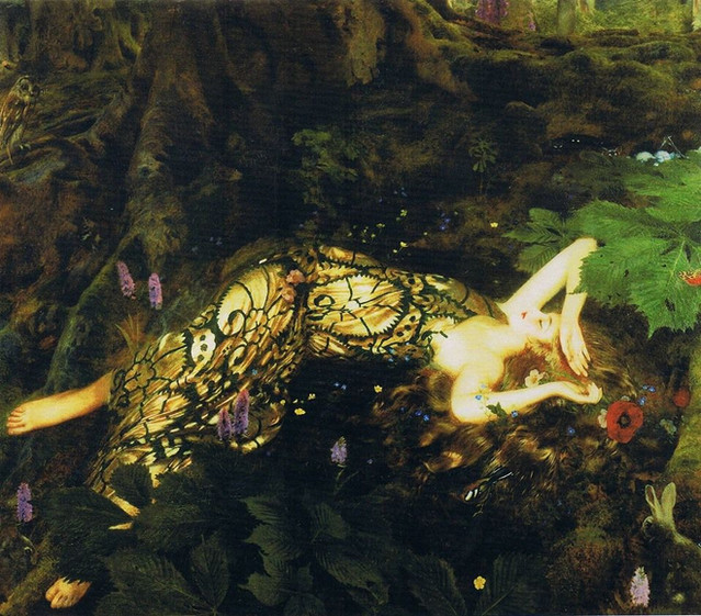 "Frank Cadogan Cowper. Titania Sleeps in ""A Midsummer Night's Dream,"" 1928."
