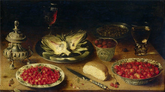 Still Life with Fruit and Artichokes, Osias Beert the Elder (1580-1624)