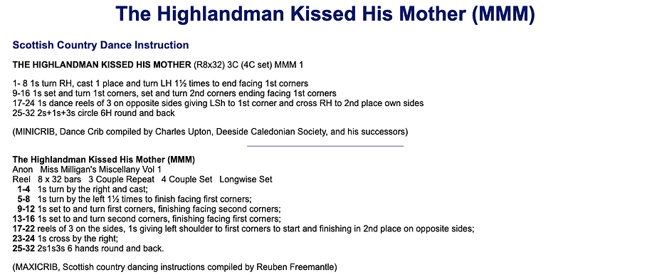 The Highlandman Kissed His Mother