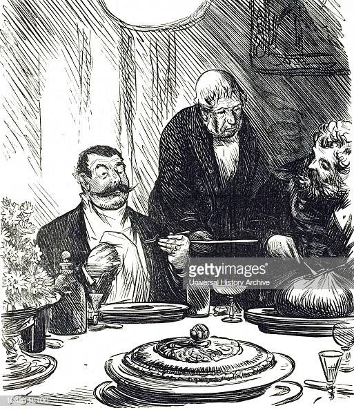 Dinner Party Where Haggis Is Served 19th Century