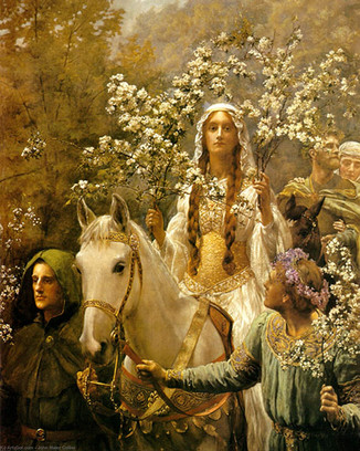 Queen Guinevere's Maying, by John Collier, 1897