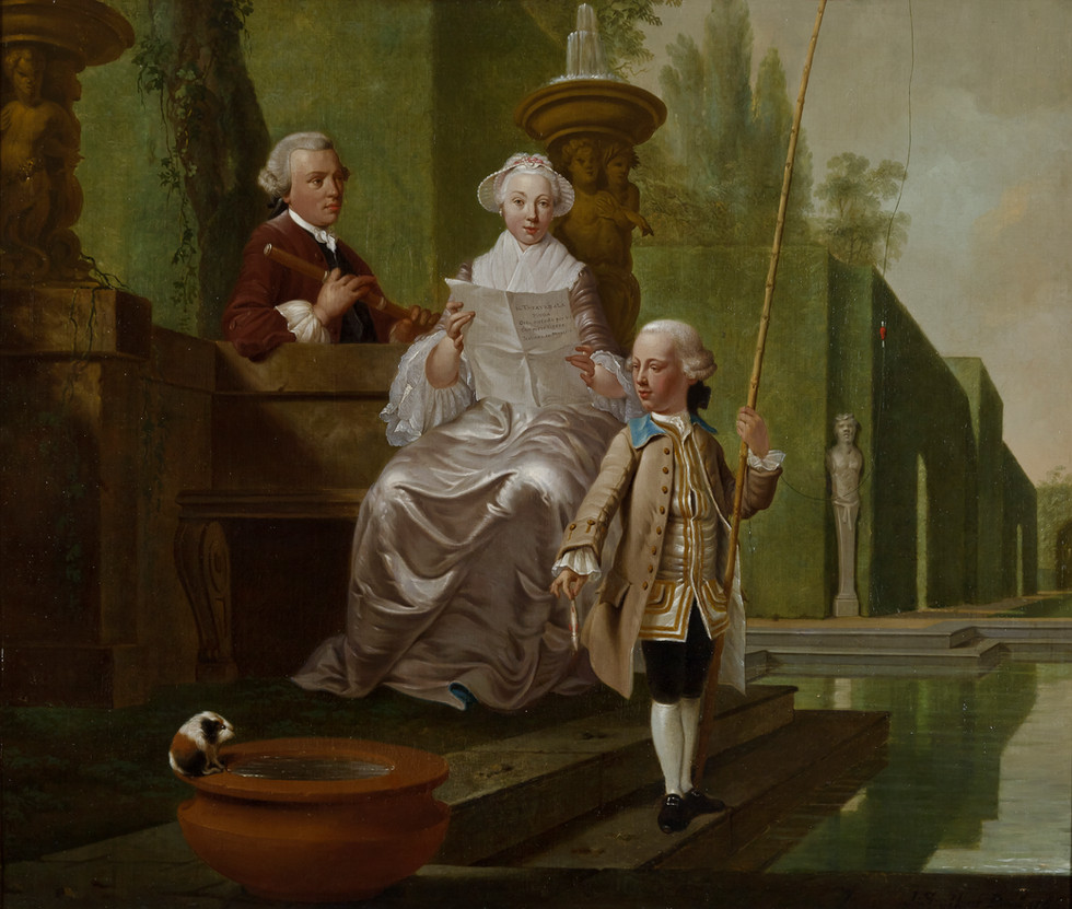 Portrait of Cunera van Rijckevorsel (1722-1782), Isaac Hubert (1725-1798) and Isaac Hubert jr (1756-1839)