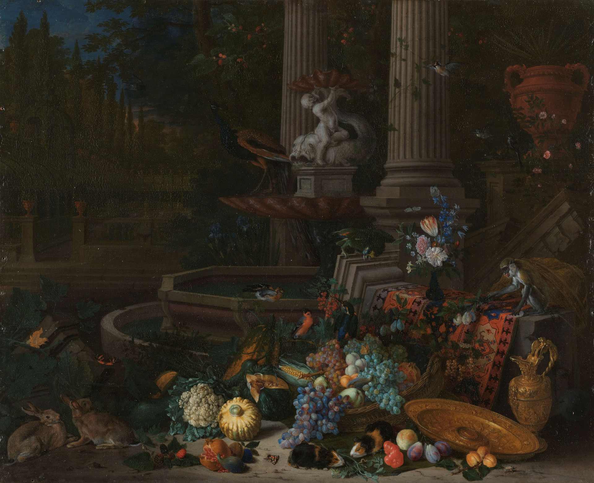 Still Life Near a Fountain