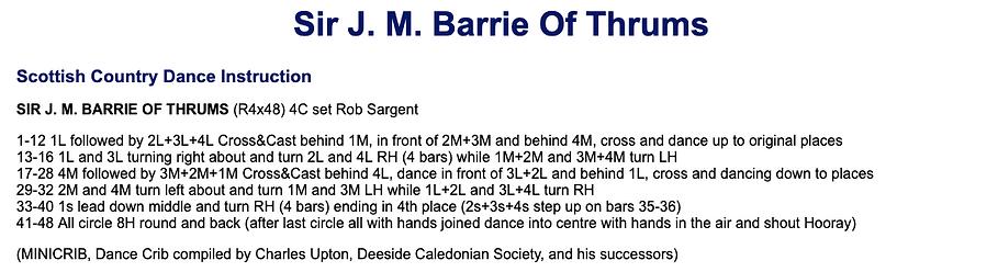 Sir J. M. Barrie of Thrums