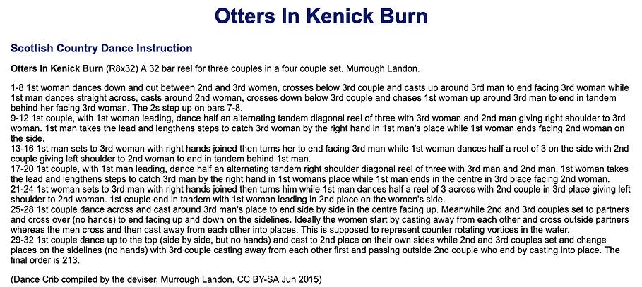 Otters in Kenick Burn