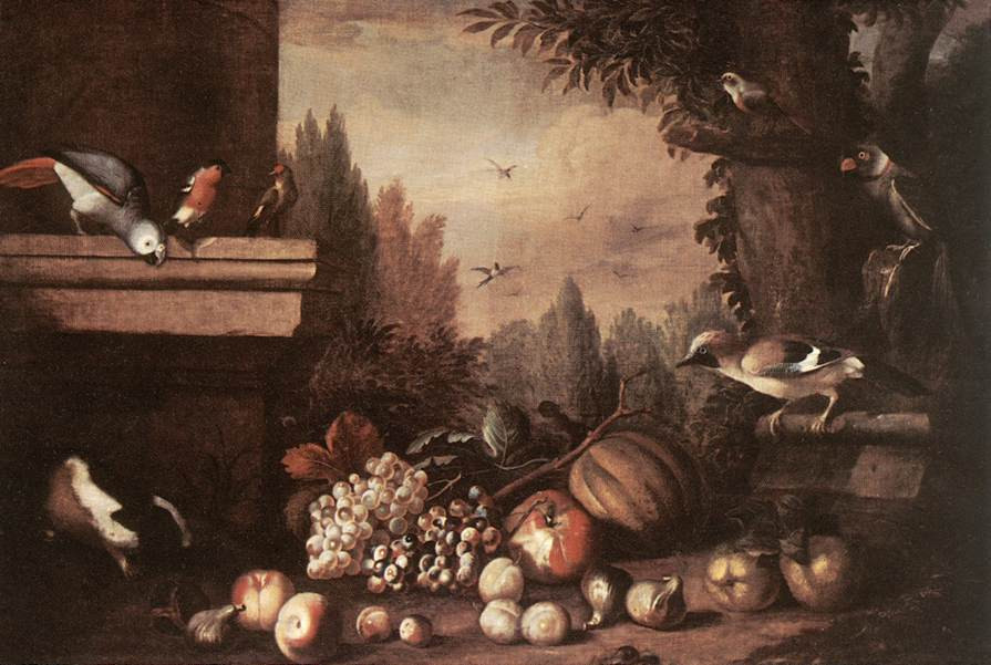 Fruit with Birds and Guinea-pig