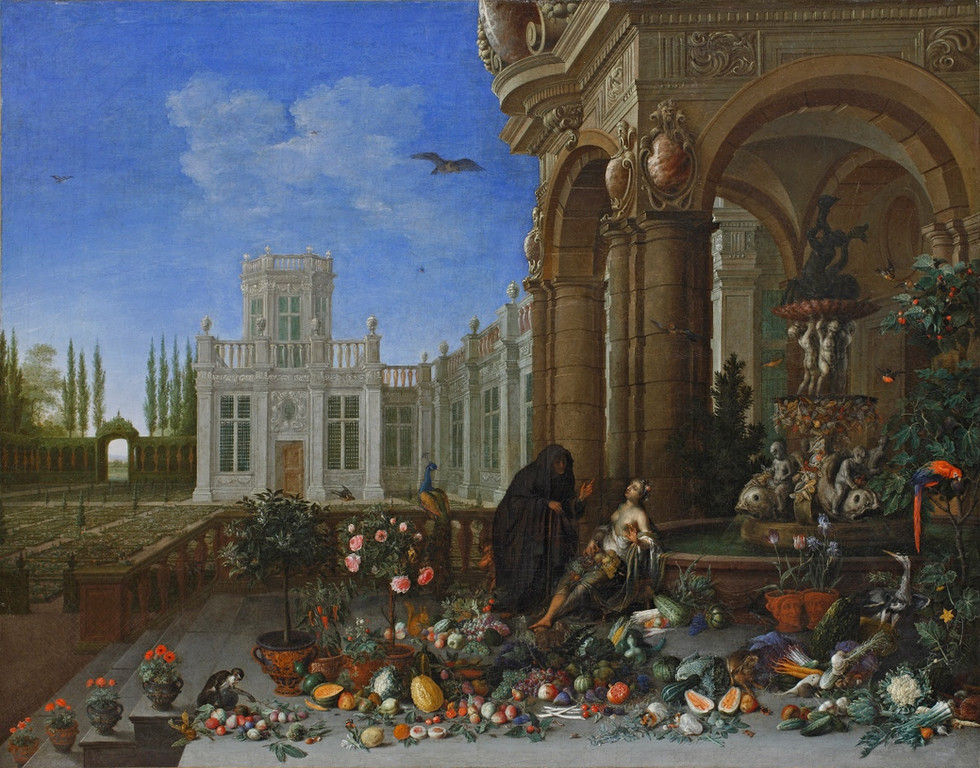 Vertumnus and Pomona at the Palace Terrace
