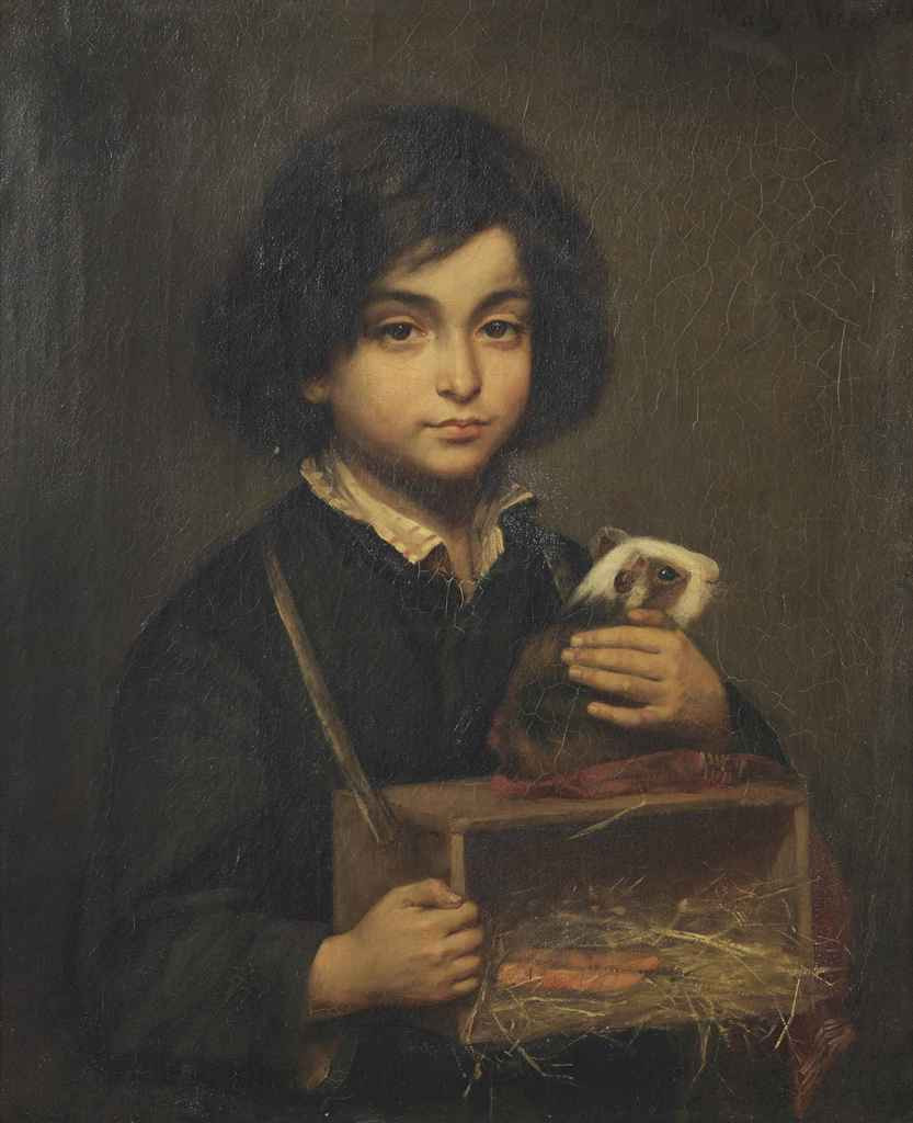 Boy with Guinea Pig in a Box