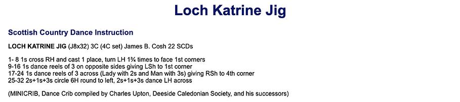 Loch Katrine Jig