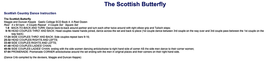 Scottish Butterfly