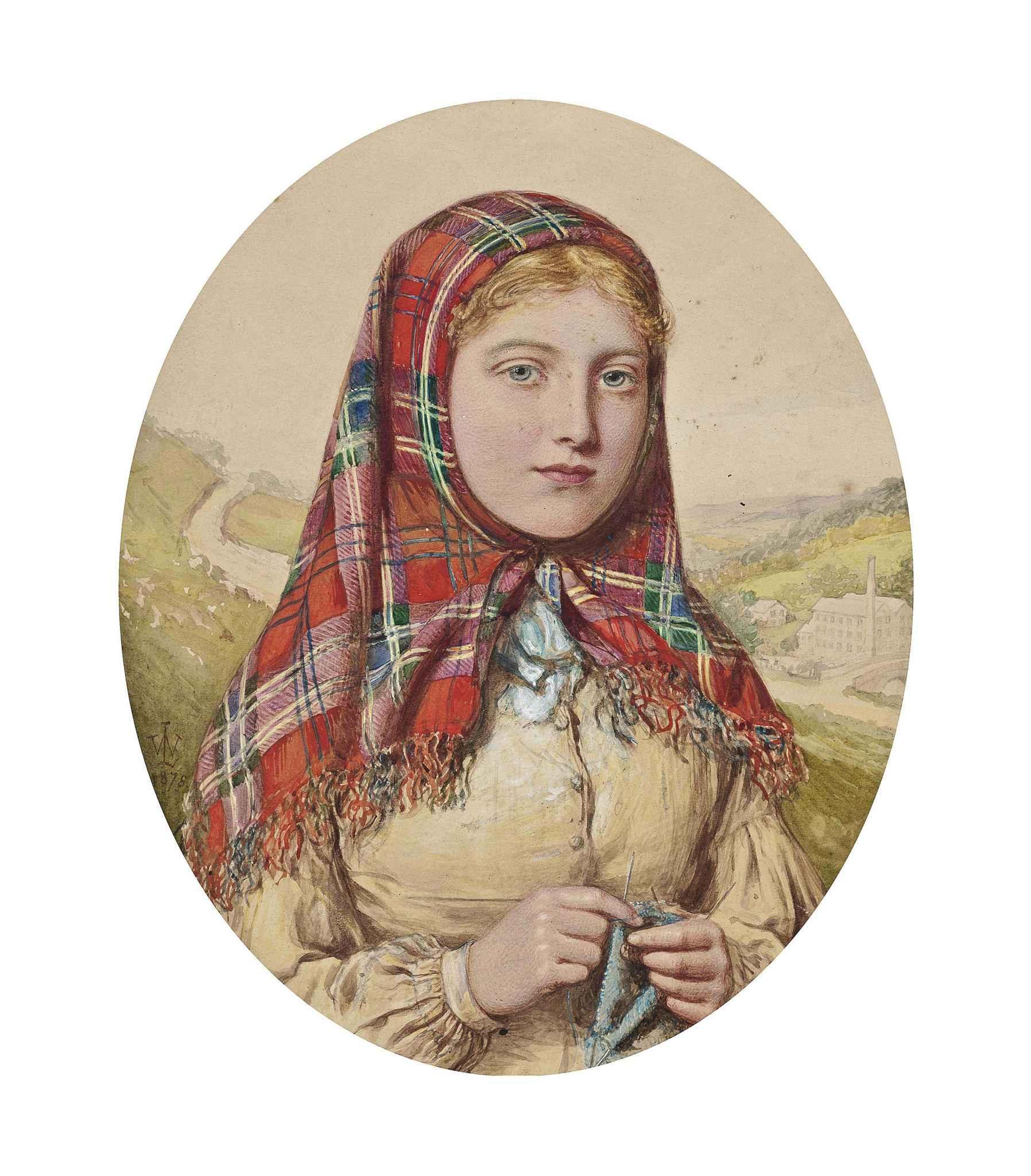 Girl in a Tartan Shawl