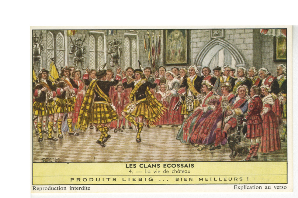 Les Clans Ecossais, Produits Liebig, 1961, Series 528  From  1870 - 1975, the Liebig Meat Extract company began publishing  colored lithographed cards on all subjects as a way to advertise the product.