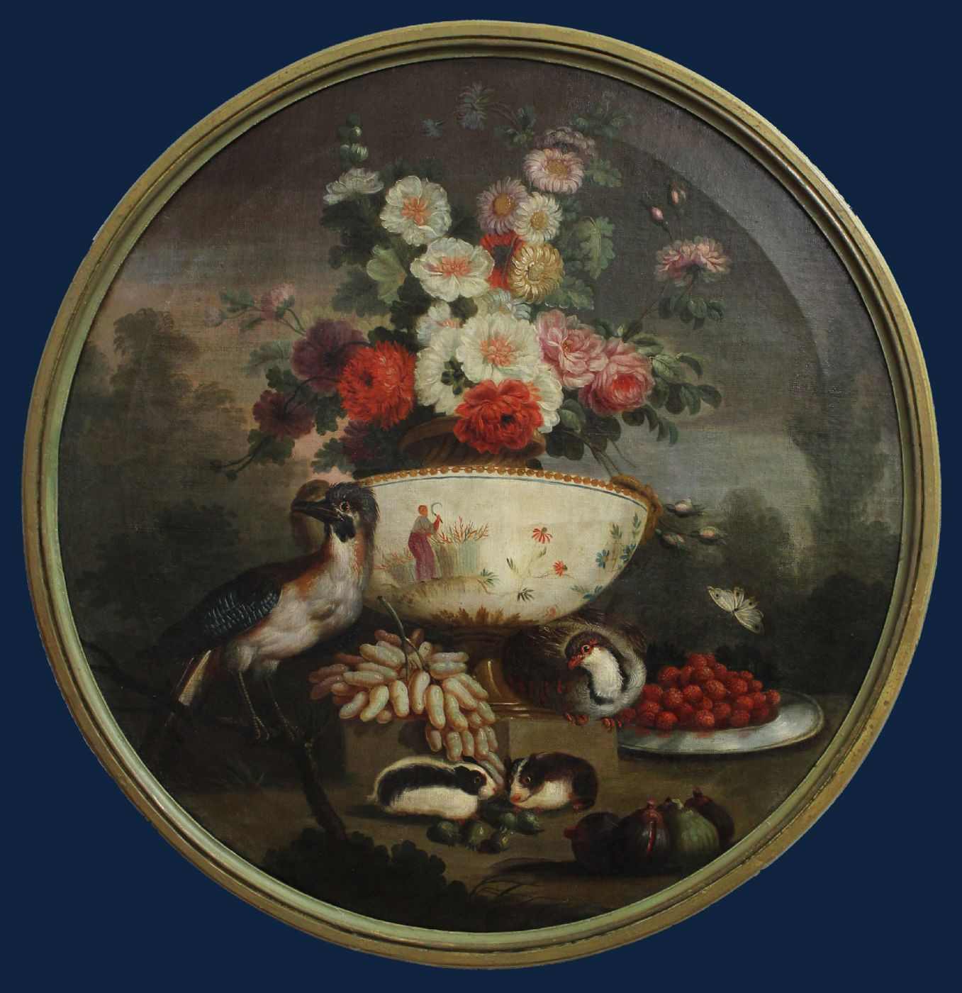 Still Life with Flowers, Fruit, Guinea Pigs