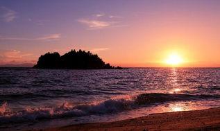 広島県の隠れた夕日のスポット 目の前の島々に沈む夕日はまた格別です!