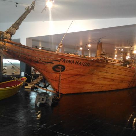 Voilier et Doris. Musée Maritime d'Ílhavo