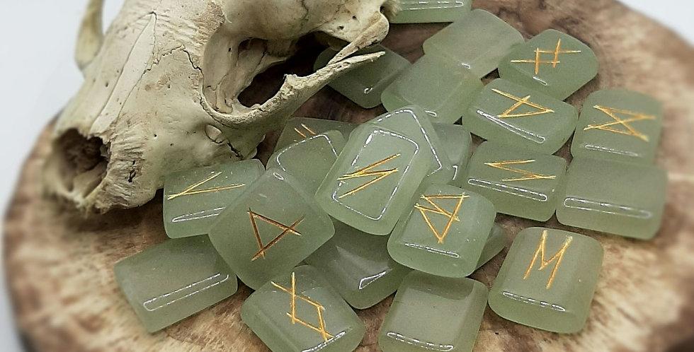 Green Aventurine Rune Set