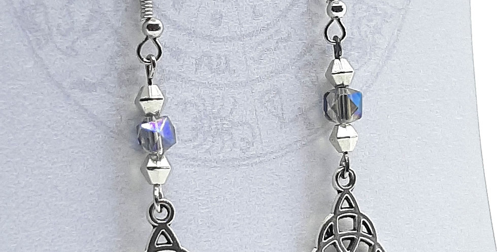 Csech Glass Triskelion Earrings