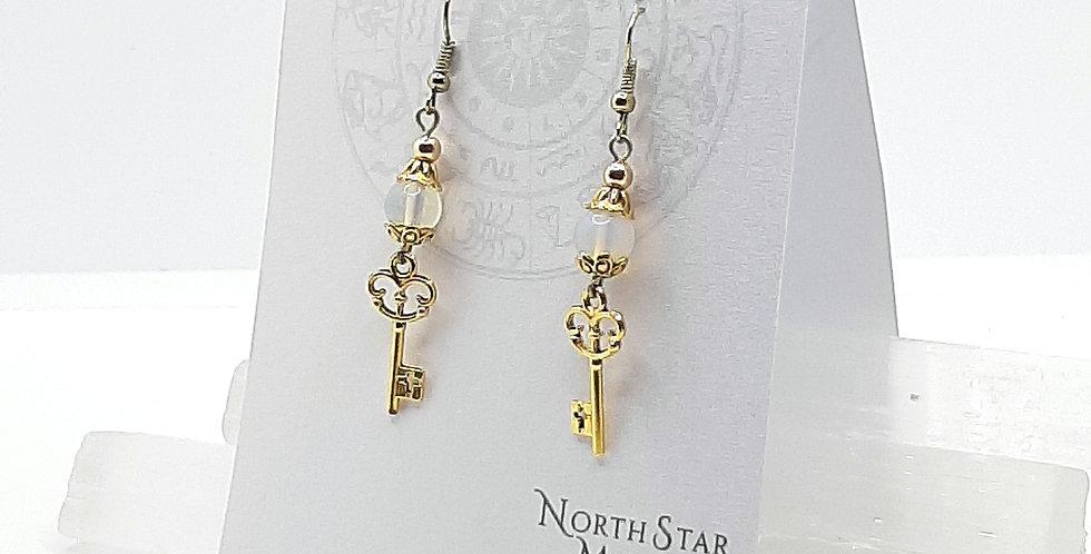 Opalite Key Earrings