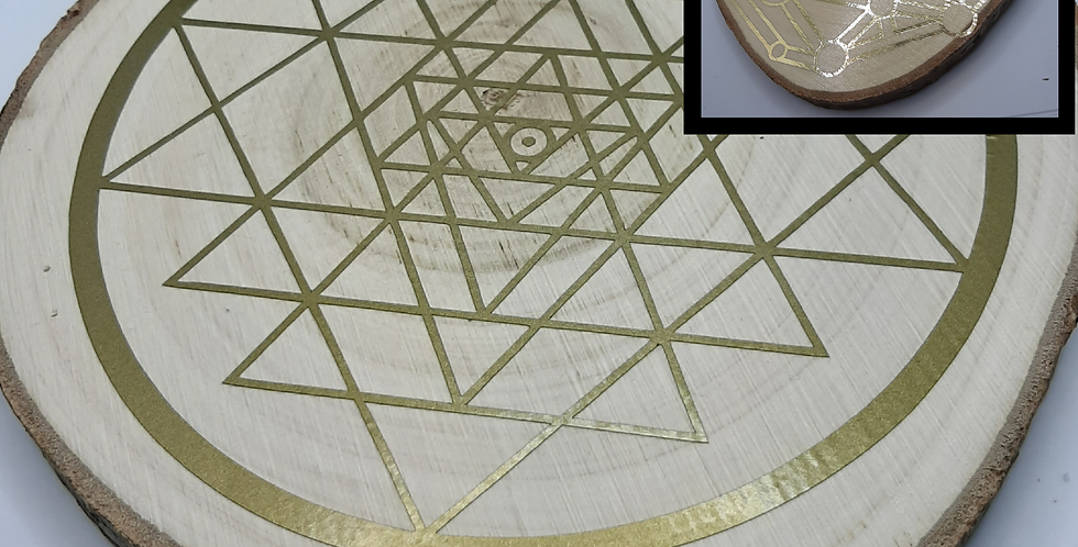 Sri Yantra & Dodecahedron Disc