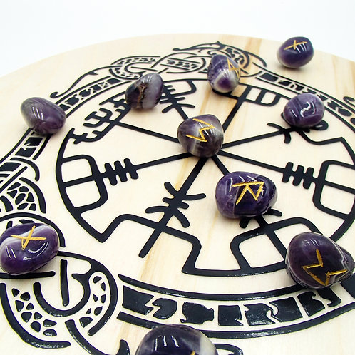 Nordic Compass Rune Stave Disc