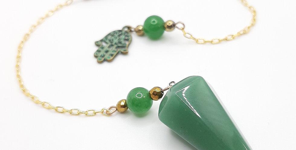 Green Aventurine Hamsa Pendulum
