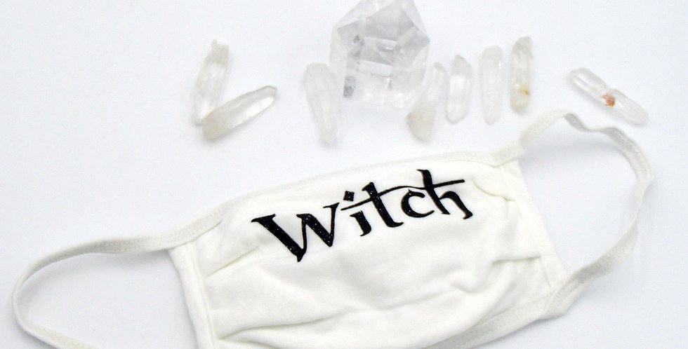 Witch Face Mask (white)