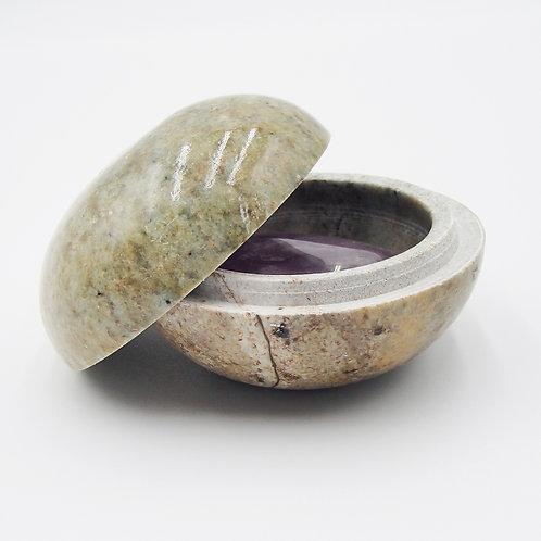 Soap Stone Trinket Box - Sm.