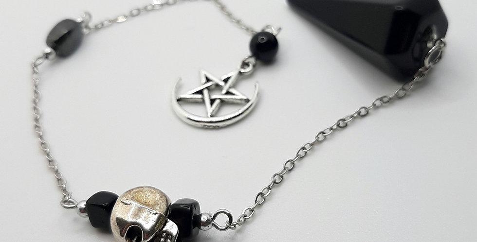Obsidian & Hematite Pendulum