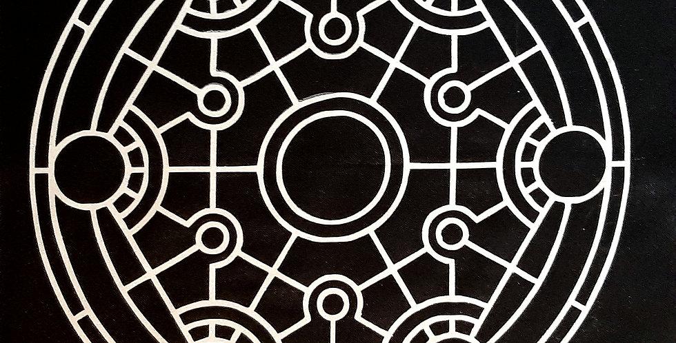 Metatron's Cube Black On White