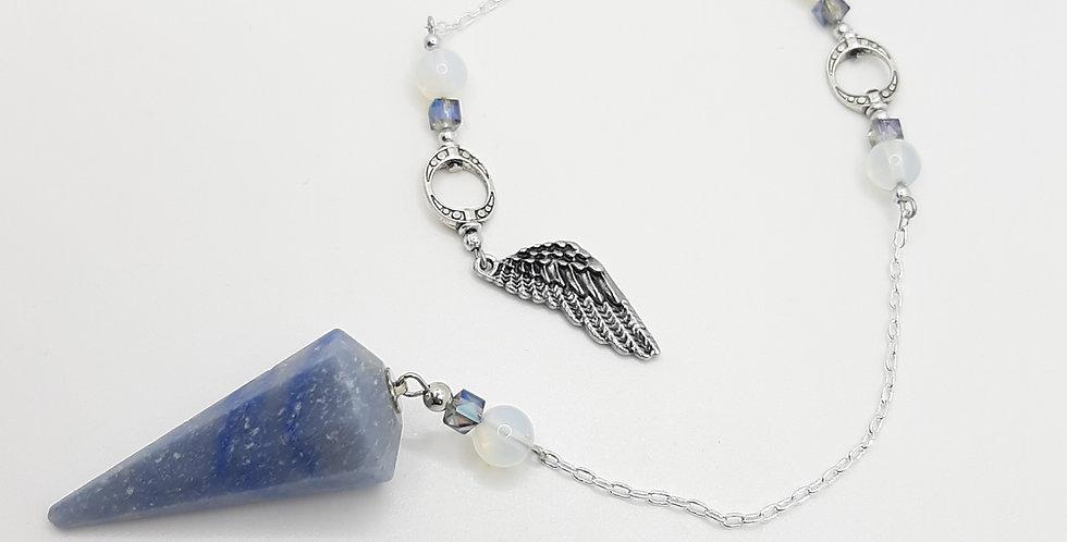 Blue Aventurine, Opalite Pendulum