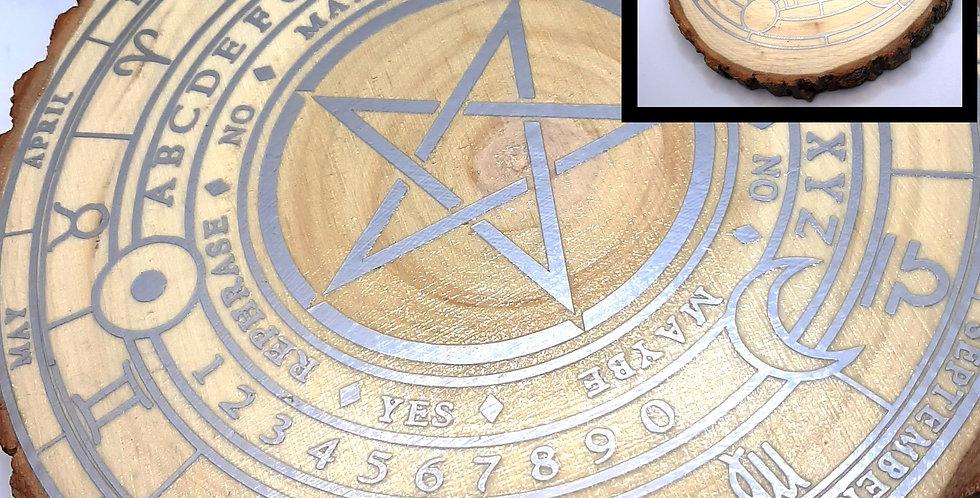 Pentacle & Metatrons Cube Divination Disc