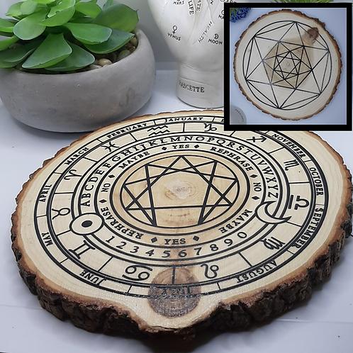 Enegram & Star Tetrahedron Divination Disc