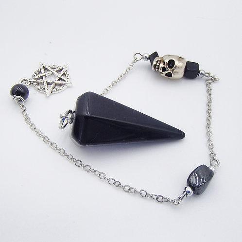 Obsidian Pentacle  &  Skull Pendulum