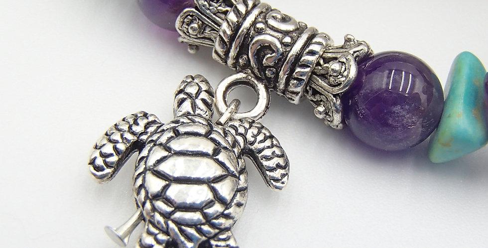 Rose Wood & Turtle Bracelet