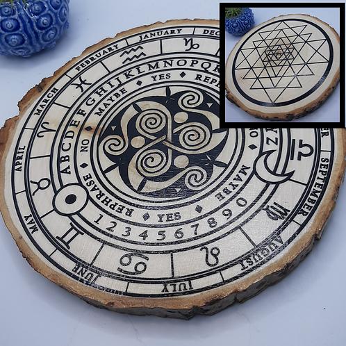 Triskelion & Sri Yantra Divination Disc