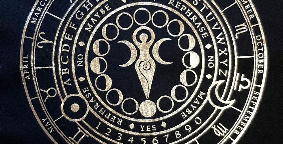 Triple Goddess Divination Mat Silver