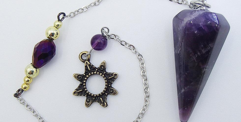 Amethyst& Sun Pendulum