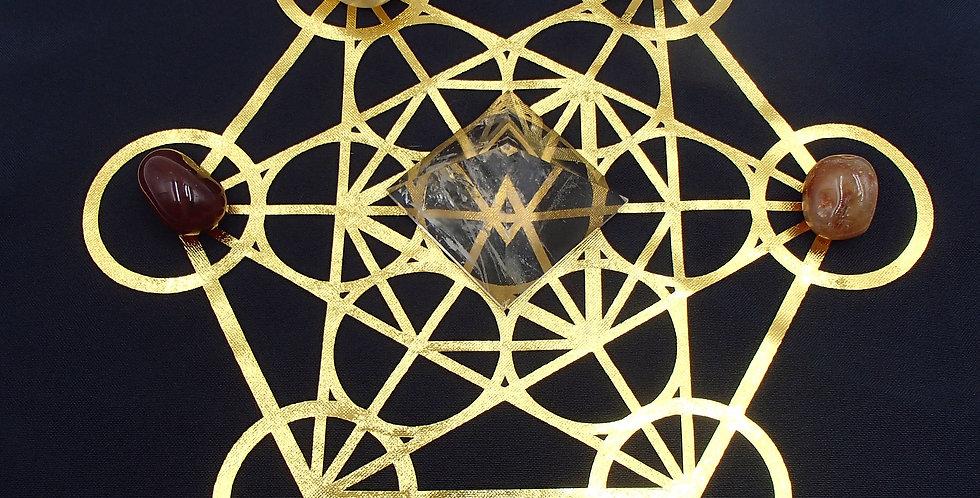 Metatrons Cube Grid Mat