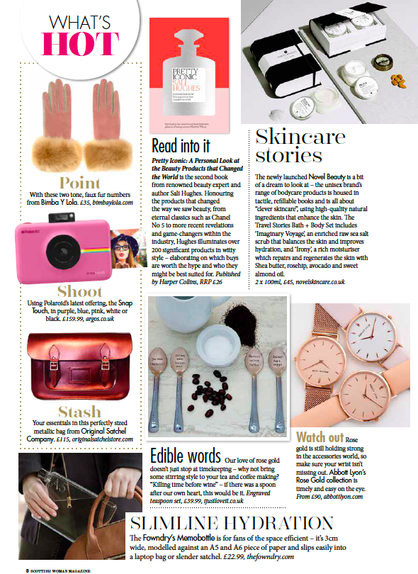 novel skincare scottish women mag