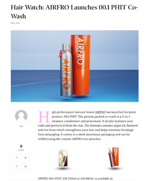 AIRFRO Launches High Performance Haircare - PauseHer, May 2021