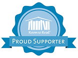 Proud supporter of Room to Read supporting literacy and girls education
