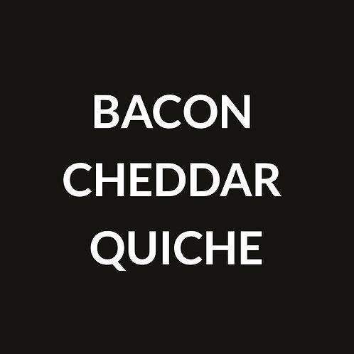 CHEDDAR BACON QUICHE