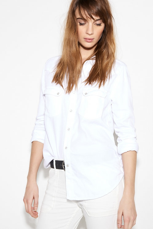 BA&SH white jeans shirt