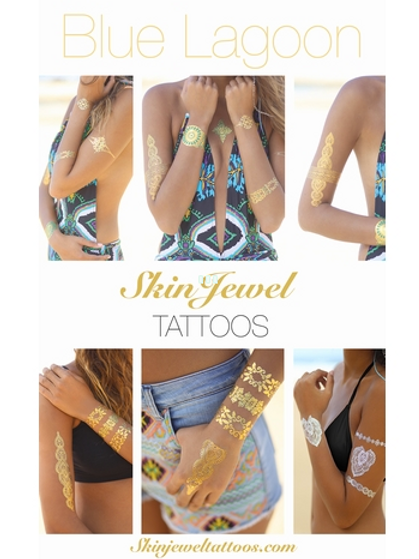 SKIN JEWEL TATTOOS - Blue Lagoon