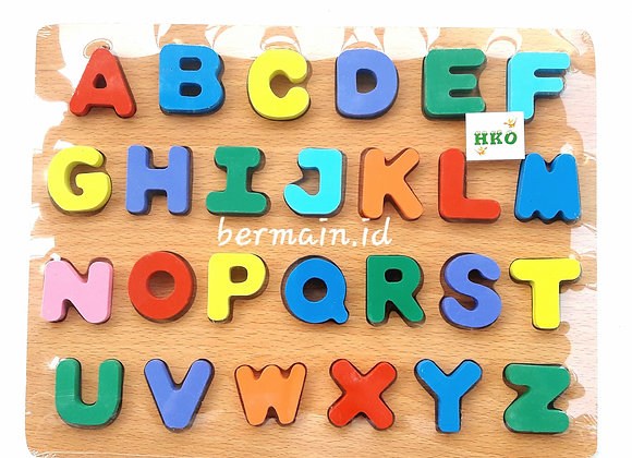 Mainan Anak Huruf Kayu Puzzle