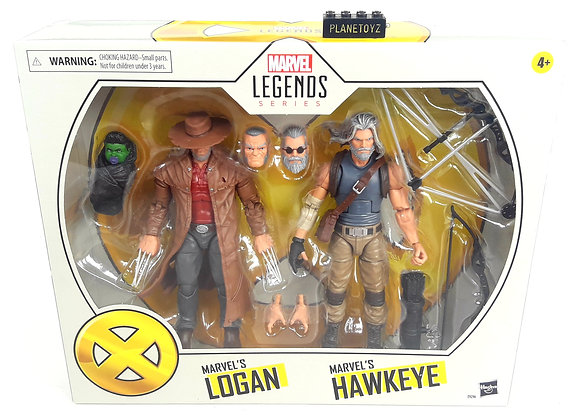 Marvel Lagends Series Logan & Hawkeyes Old Man The Avengers Wolverine X men